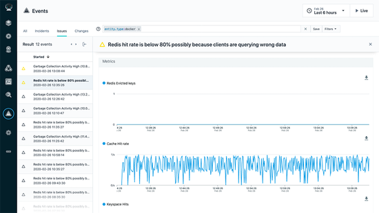 Problem Identification Screen - Containerized Application Performance Monitoring