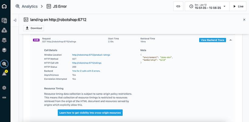 Website End User Monitoring